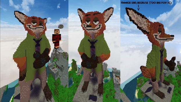 Nick Wilde in Minecraft by Redstone--Army