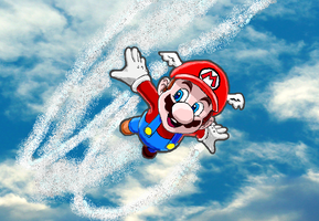 mario flying by InfamouslyDorky