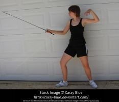 Foil Fencing En Garde Stock by Cassy-Blue