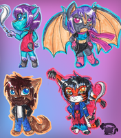 Chibis 8D by Morghiesart