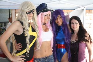 Marvel Girl, Poison, Psylocke and Victoria Paege by norrit07