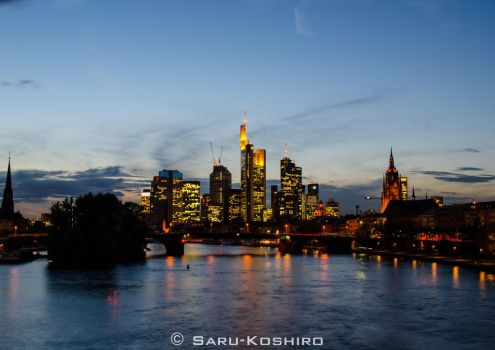 Frankfurt am Main Skyline by Saru-Koshiro