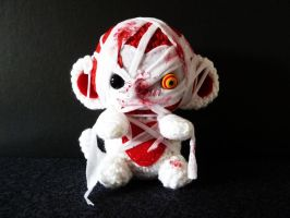 Mummy Monkey Amigurumi by cuteamigurumi
