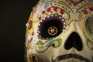 Steampunk Sugar Skull -2 by Boston-Corbett