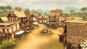 Medieval Village by barbeaulex
