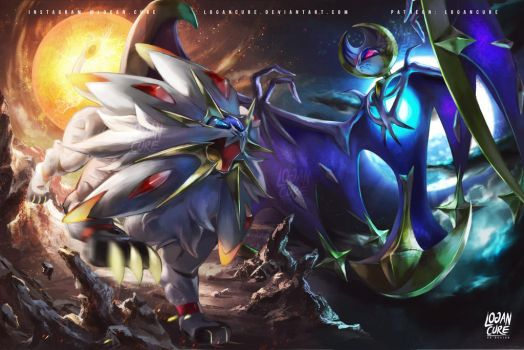 Solgaleo, Lunala Pokemon Sun and moon by logancure