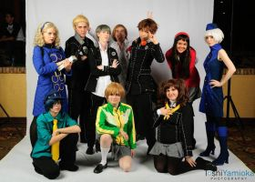 Persona 4 Cafe Cast by dahowbbit