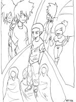 Between the lines (line art) by LordofTheSouls