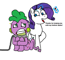 Spike helps Rarity by Spikandfrends