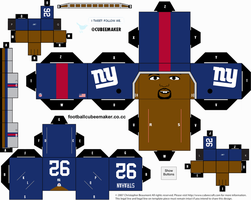 Michael Strahan Giants Cubee by etchings13