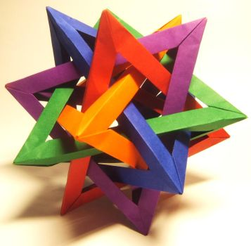 Five Intersecting Tetrahedra by Monarth