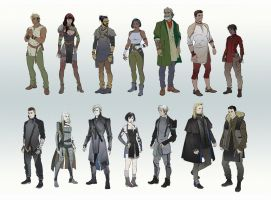Character Line-up Part 2 by hubbleTea