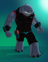 Realistic Captain Gantu by LauraRamirez
