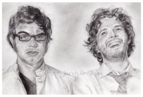 Flight of the Conchords by lloveandsqualor