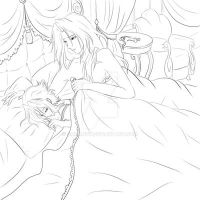 Line Art Good Morning TBWC Abel Esther by smcandy