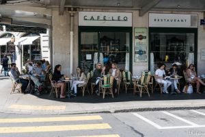 Summer noon at Cafe Leo by Rikitza