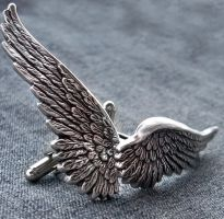Dark Angel Cuff Links by Aranwen