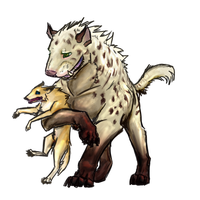 Zhuvu and Coyote by DemonsHeir