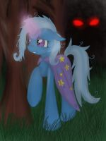 Trixie in forest by Shadowh00f
