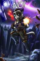 Grumpy Cat as Wilhelm the Enforcer by DLowell