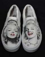 marilyn monre shoes by mattcoryart