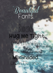 Beautiful Fonts    Agus . by RadiantDay