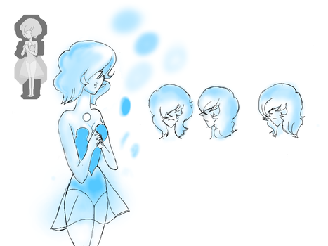 Blue pearl redesign by anime1999