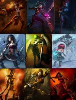 League of Legends collab by Foxstar92