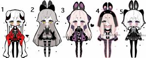 kemonomimi adoptable batch CLOSED by AS-Adoptables