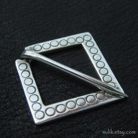 Silver medieval square pin by Sulislaw