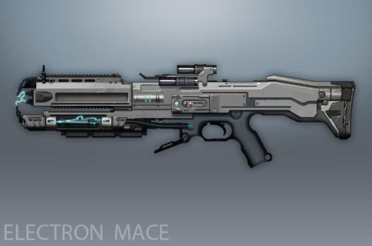 Syndicate Concept Art - Electron Mace by torvenius