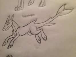 Mythical dog 58: Hippocampus  by Dinoboy134