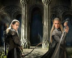 Thranduil and Legolas by Menkhar