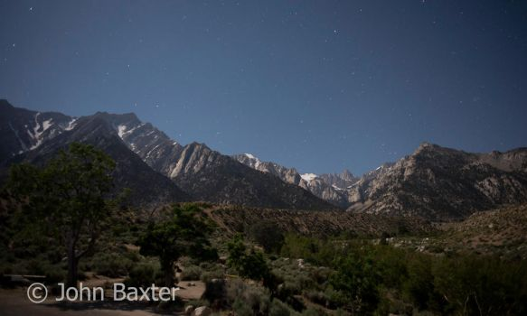 Mt Whitney By Moonlight by JBaxterPhotography