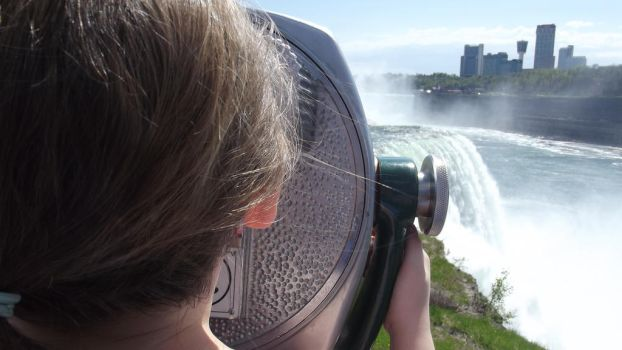 Viewing the falls by Lonewolff242