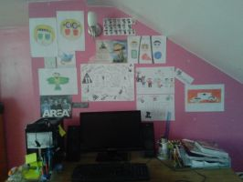 My wall... I decorated it... by endninja