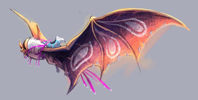 sketch- bat dragon by Pertheseus