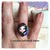 #ring #shibori #doll #clay by AngelaDafne