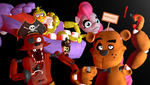 Five nights at the kid's strip club. by labet1001