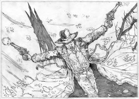Dark Tower - Roland Deschain pencil A3 by IgorChakal