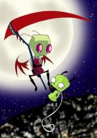 Death Zim and Gir by The-invasion
