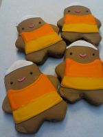 Candy Corn Costume Cookies by eckabeck