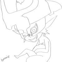 Midna LINE ART - TWILIGHT PRINCESS by darkprincesskikyo