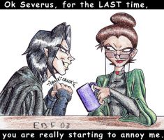 Snape annoying McGonagall by edf
