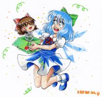 Happy Cirno Day ! by Val-Krayon