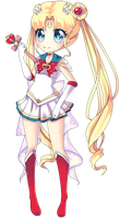 Super Sailor Moon [Semi-Chibi] by Aliyune
