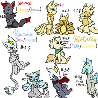 Mixed Pokemon Adopts 8-CLOSED by SkittyKittyCat