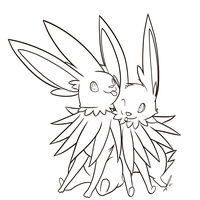 Jolteon Couple Lines by jaclynonacloudlines