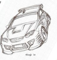 Satria Neo WideBody Sketch by Seaedge