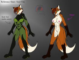 Steelfox suit and nude ref by Snowfyre